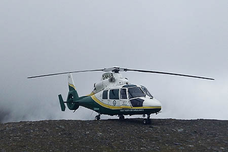 The Great North Air Ambulance's aircraft continued flying