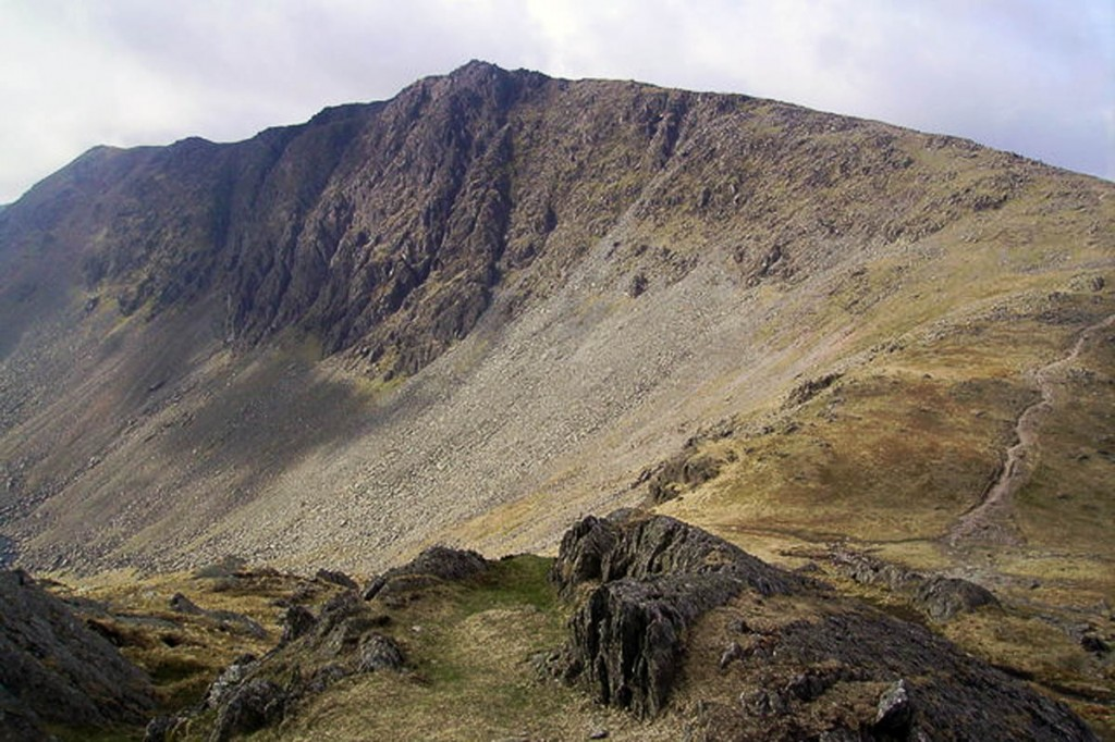 The walkers had strayed over to Dow Crag. Photo: Michael Graham CC-BY-SA-2.0