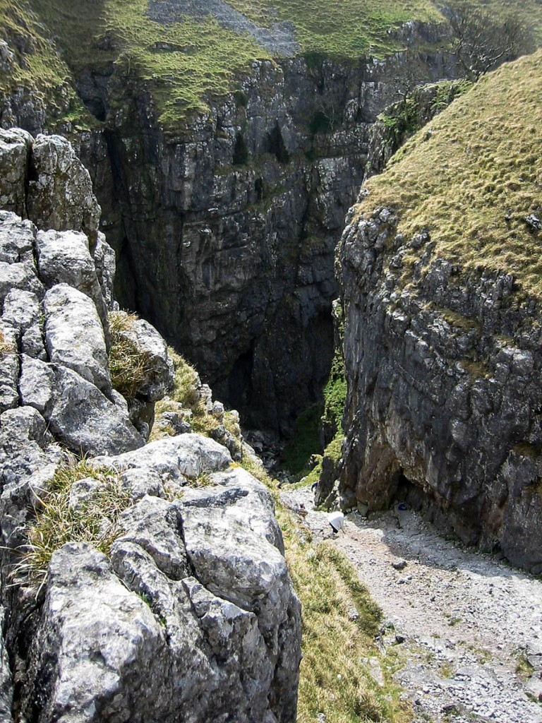 The incident happened above Gordale Scar
