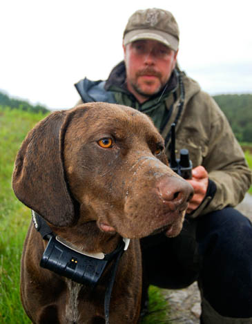 Ally Macaskill with one of his SatNav dogs
