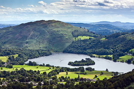 The body was found washed up on the island in the middle of Grasmere