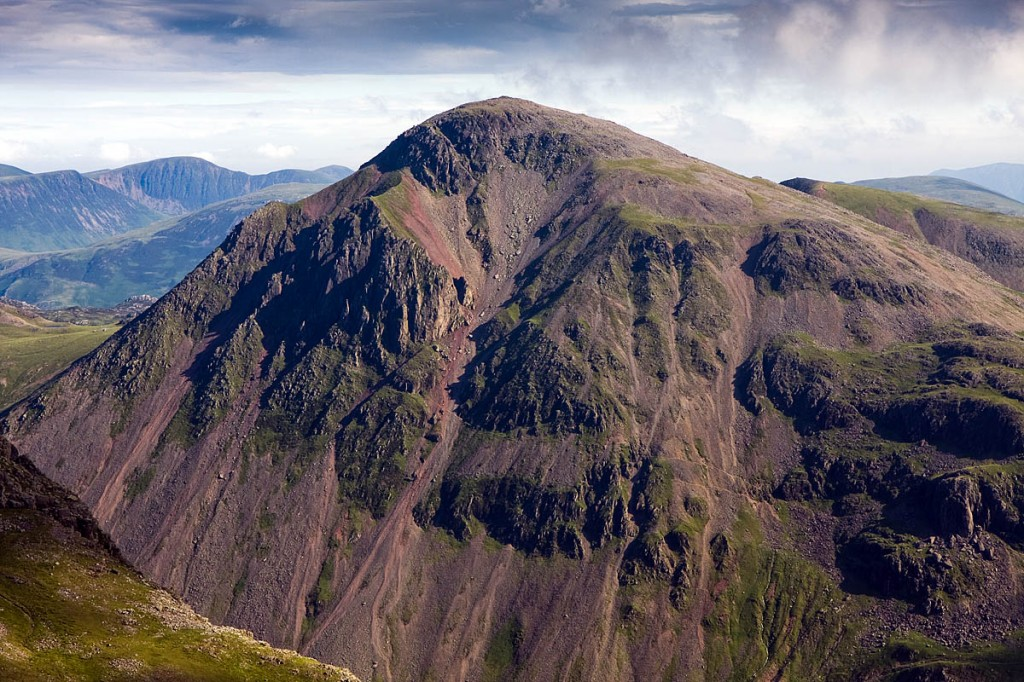 The woman was airlifted from Great Gable