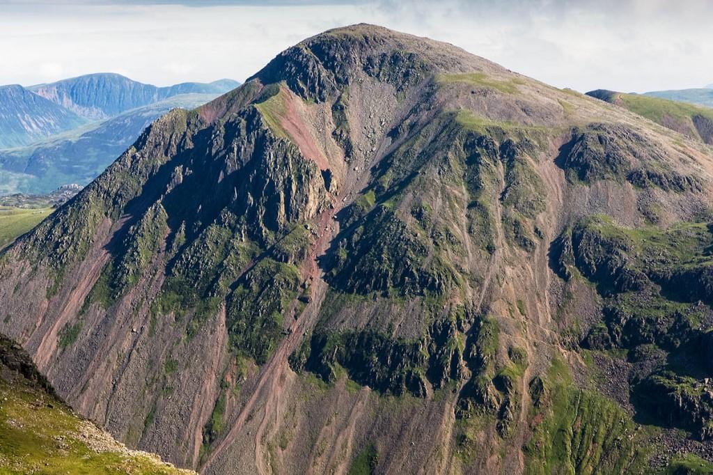 The climber fell a considerable distance on Great Gable