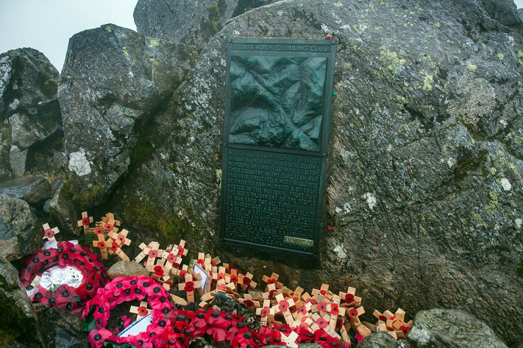 The walker had taken part in the annual Remembrance Day gathering on Great Gable