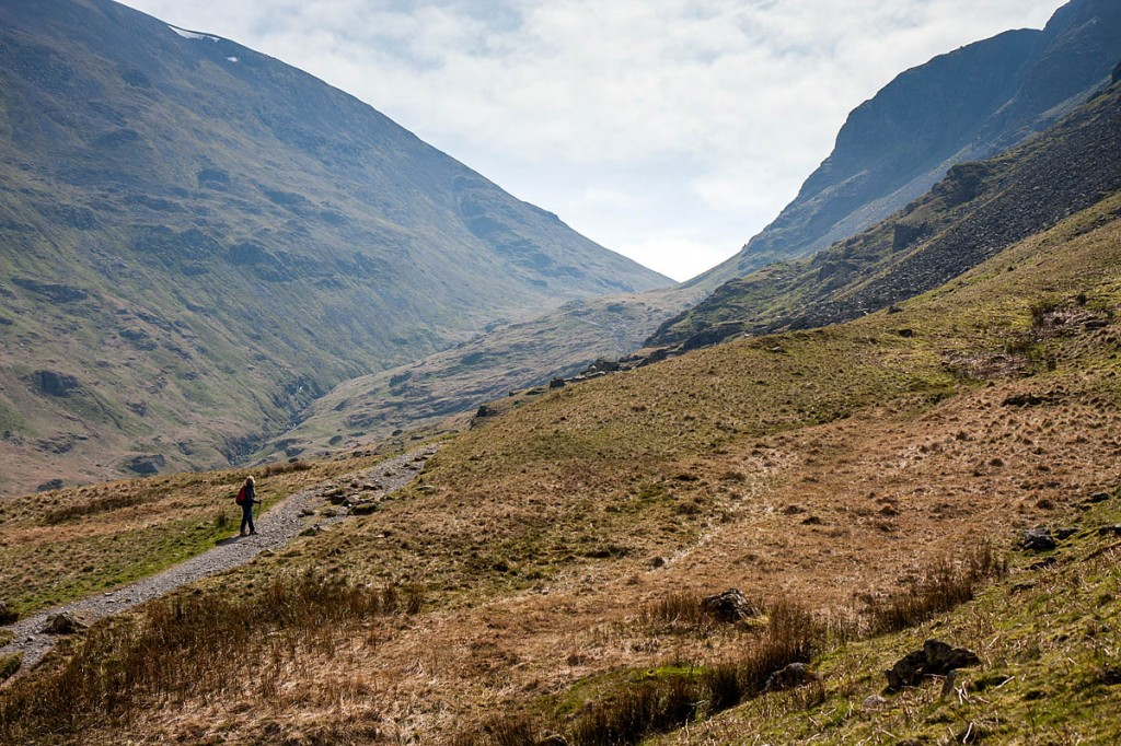The woman was asending towards Grisedale Tarn. Photo: Bob Smith/grough