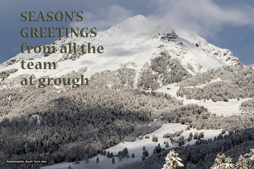 Season's greetings from all the team at grough