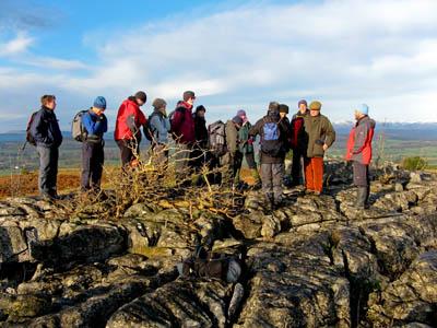 Delegates on the Hampsfell field trip
