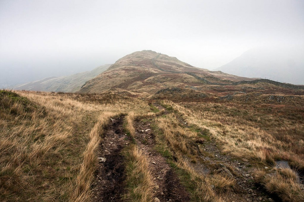 The walkers found the main path down Hartsop Above How