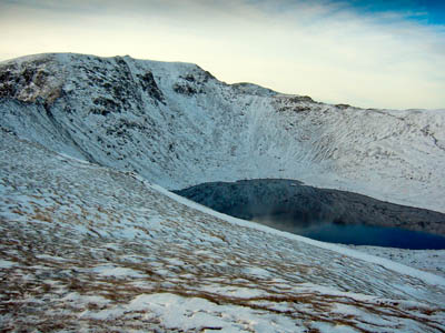 Helvellyn and Swirral Edge, in the middle distance