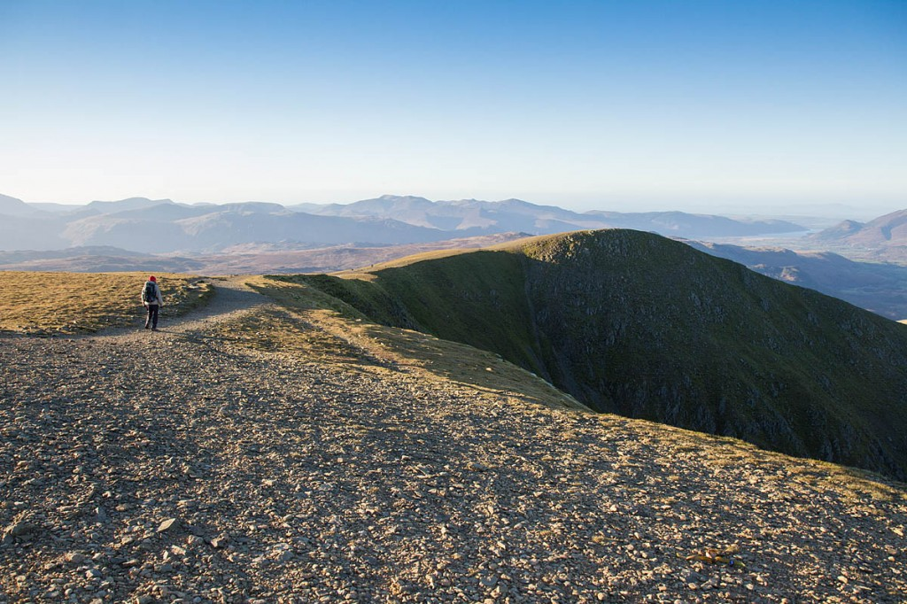 The couple made their way down from near the summit of Helvellyn