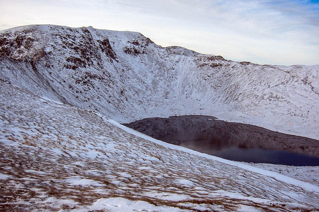 The man fell 150m down the Red Tarn side of Swirral Edge