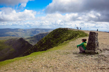 The biker helped the lost walkers from the summit of Helvellyn