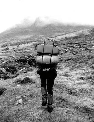 Dave Hewitt ascends Ben Alder in May 2007. Photo: Michael Wright