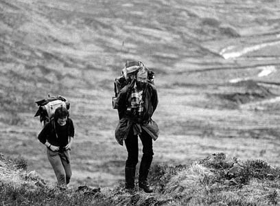 Dave Hewitt and Sarah Craig on the watershed route in 1987. Photo: Michael Wright