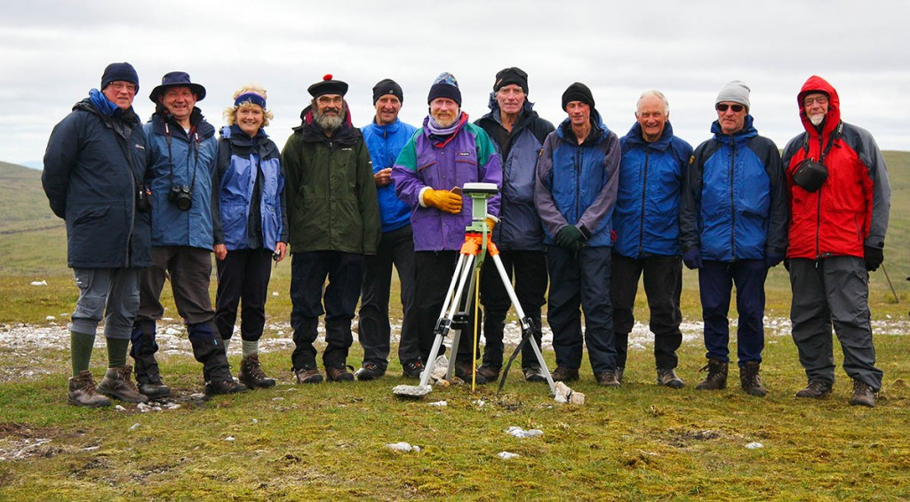 Surveyors, SMC representatives and members of The Munro Society at the summit of Mullach Coire nan Cisteachan. Photo: Myrddyn Phillips