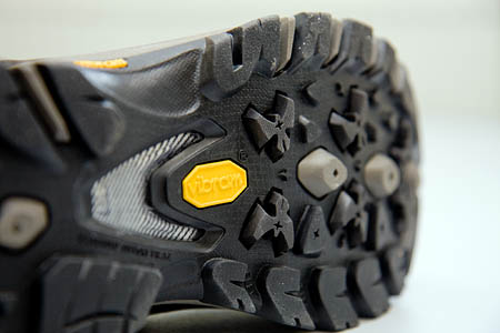 The flexible Vibram sole gives good grip