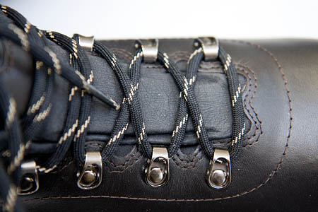 A locking knot was need on the laces of the roomy boots