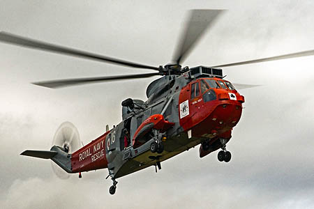 The Royal Navy Sea King flew the woman to hospital. Photo: Tweed Valley MRT
