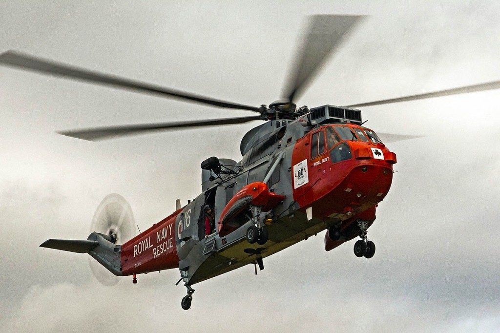 The Royal Navy Sea Kings of HMS Gannet have been a familiar sight in the mountains