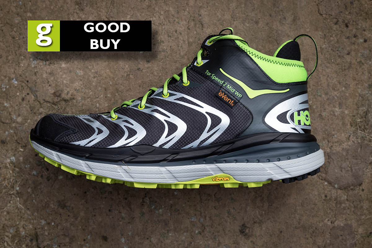 The Hoka One One Tor Speed 2 gets a best buy rating. Photo: Bob Smith/grough