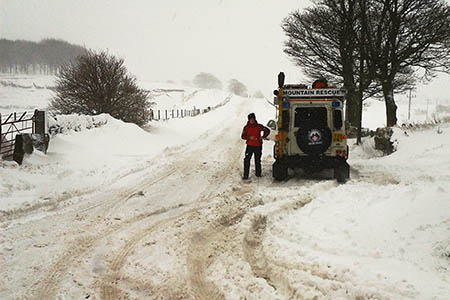 The Holme Valley team in action. Photo: Holme Valley MRT
