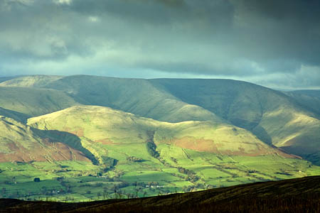 The Howgill Fells: currently half in, half out of the Yorkshire Dales national park