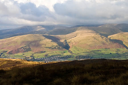 One of the callouts was to a walker on Winder, left, in the Howgills