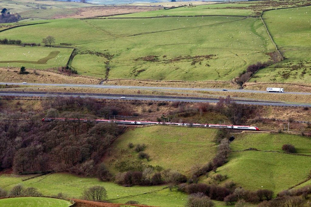 The two national parks will be separated only by the corridor carrying the M6 and West Coast Main Line through the Lune Gorge