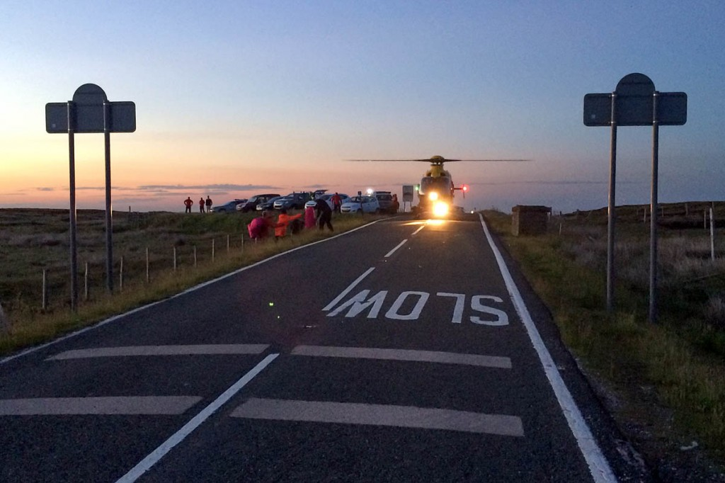 The girls were taken to the car park at Holme Moss. Photo: Holme Valley MRT