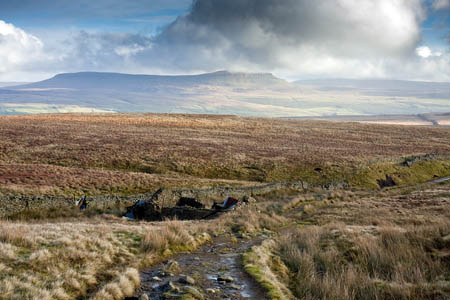 The girl was injured above the derelict Ingleborough shooting box