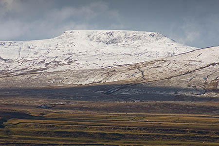 The woman slipped coming down Swine Tail on Ingleborough, to the right of the summit plateau