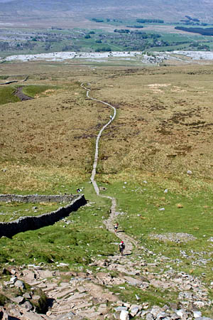The path from Chapel-le-Dale, above High Lot