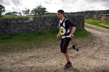 Jez Bragg on his way to victory in last year's Fellsman