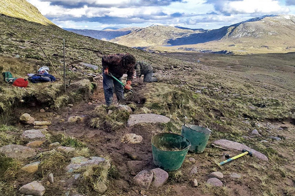 Work has begun on the footpath on Quinag