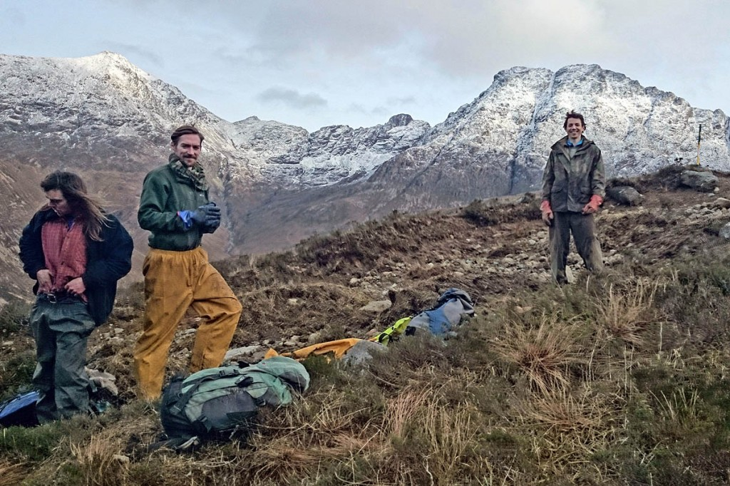 Arran Footpath Partnership workser and Chris Goodman of the John Muir Trust on the Druim Hain footpath on Skye. Photo: JMT