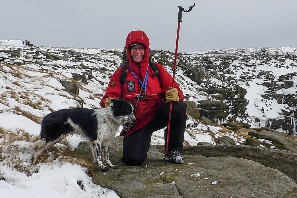 Search dog handler John Coombs
