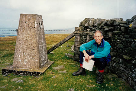 John Nuttall on Thack Moor during his and Anne Nuttall's north Pennines journey. Photo: Anne Nuttall