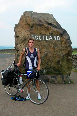 Jonny enters Scotland, on day 54