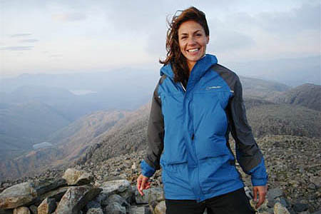Julia Bradbury followed Wainwrights' routes in her TV series