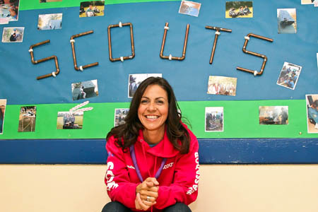 Julia Bradbury became a Scout ambassador