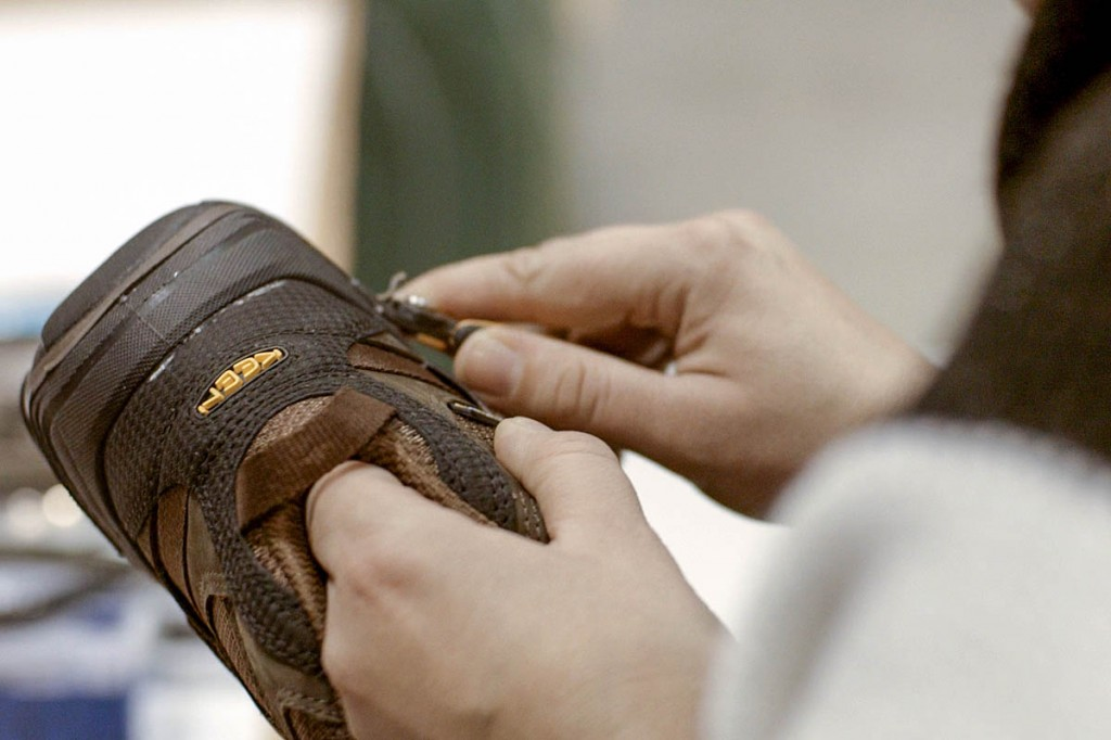 Work on Keen footwear in the European factory