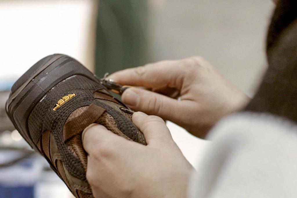 Work on Keen footwear in the European factory