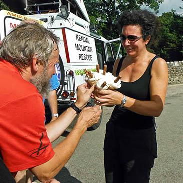 Cream treat follows kendal team rescue of injured devil s bridge woman