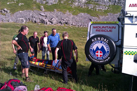 The Kendal team in action during a rescue