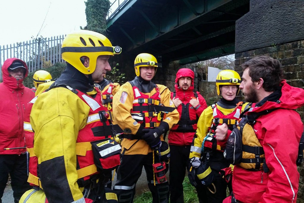 Kendal team members in action during last year's floods. Photo: Kendal MSRT
