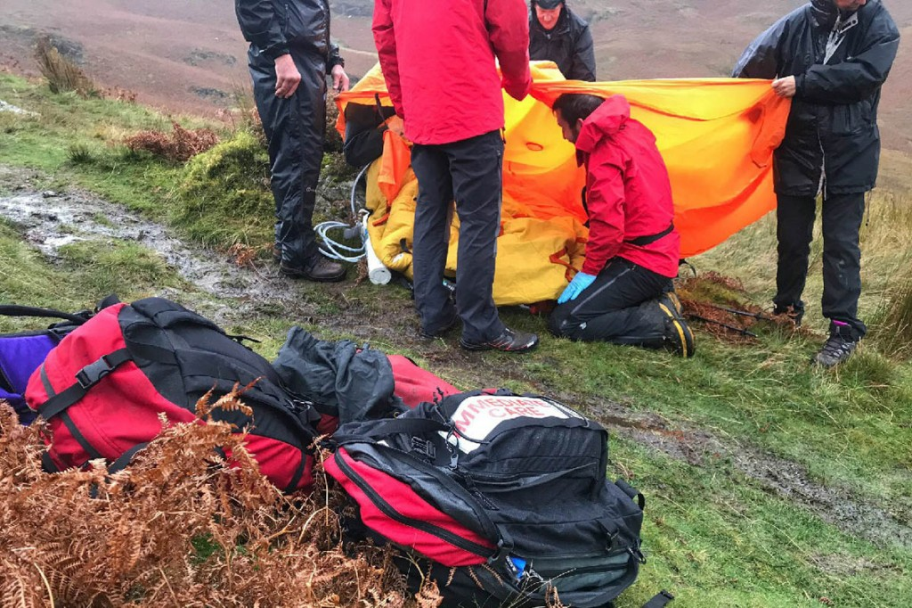 The rescue scene on Cat Bells. Photo: Keswick MRT