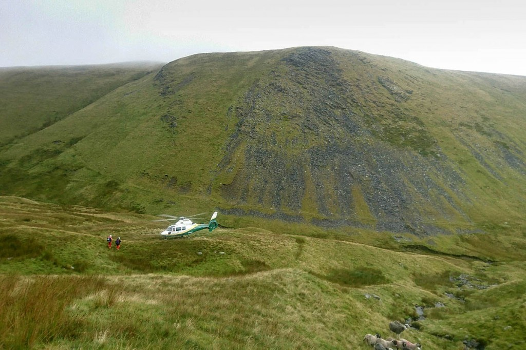 Rescuers with the Great North Air Ambulance on the mountain during the incident. Photo: Keswick MRT