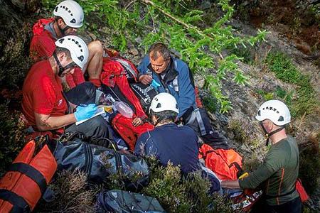Rescuers at the scene. Photo: Keswick MRT