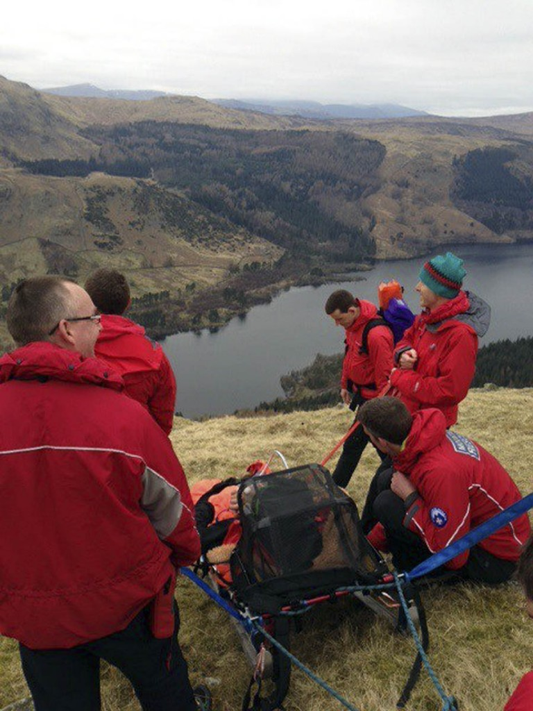 Keswick team members at the incident in March 2016. Photo: Keswick MRT