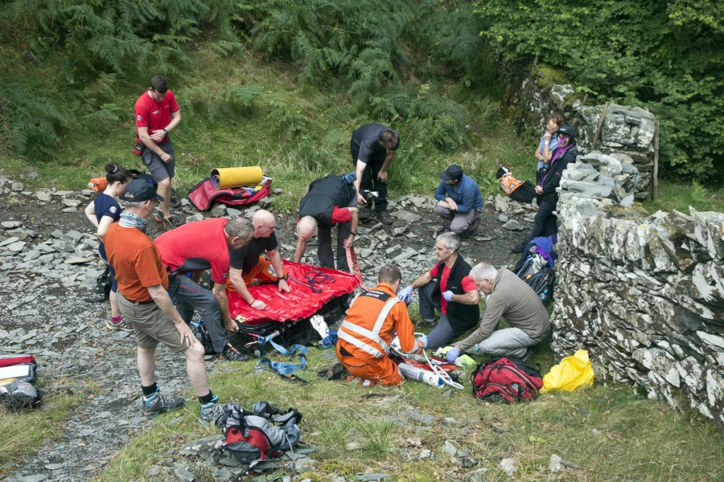 Rescuers at the scene. Photo: Keswick MRT